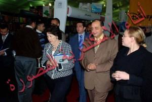السفيرة الامريكية بالقاهرة في معرض الاسكندرية للكتاب