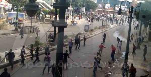 جانب من الاشتباكات في سيدي جابر بين معارضي مرسي و الجماعة المحظورة