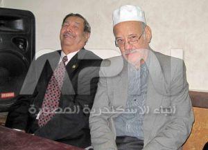 حفيد درويش و الصحفي محمد شاكر في الحفل