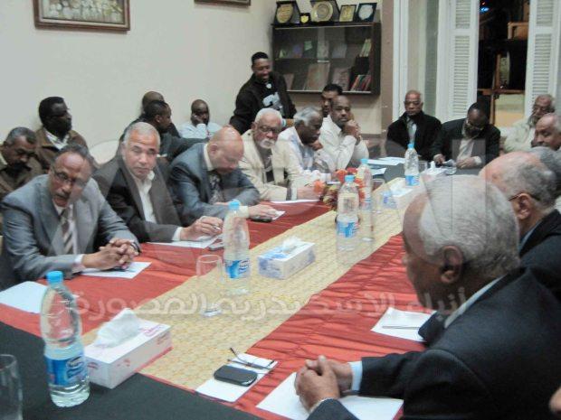 جانب من الحضور في لقاء لم الشمل النوبي بالاسكندرية