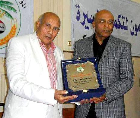 تكريم محمود شرف بالاسكندرية ( الصورة من منتدي نوبة دوول )