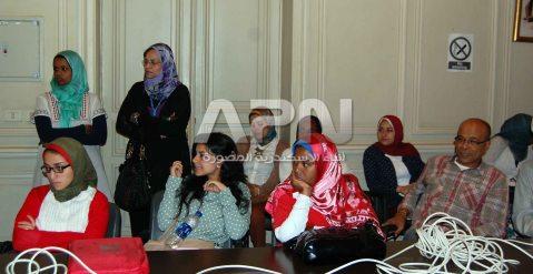 جانب من الحضور في ندوة التراث النوبي